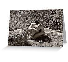 45259bw Embrace Male Couple Art Nude Greeting Card
