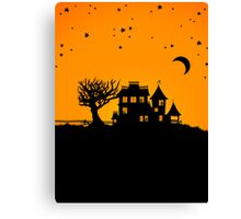 Jack O Lantern Manor Canvas Print