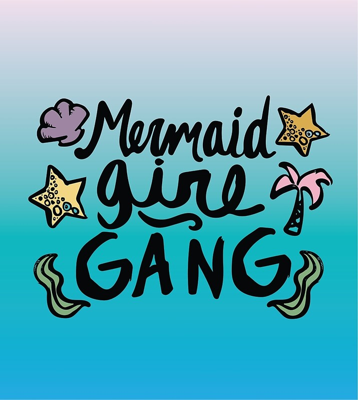 18745634 Mermaid Girl Gang Tumblr Ariel Ocean Beach Girly Print P Post...