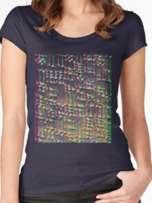 Sumerian Cuneiform Psychedelic Women's Fitted Scoop T-Shirt