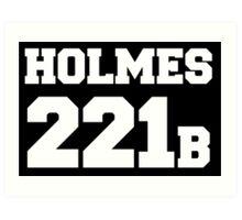 Sherlock - Team Holmes (white text) Art Print