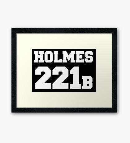 Sherlock - Team Holmes (white text) Framed Print