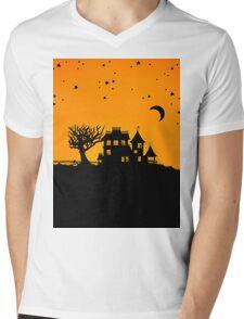 Jack O Lantern Manor Mens V-Neck T-Shirt