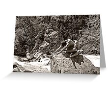 45741bw Embrace Male Couple Art Nude Greeting Card