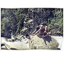45741v Embrace Male Couple Art Nude Poster