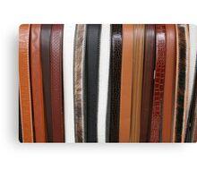 Handmade Leather Belts in Cotacachi Ecuador Canvas Print