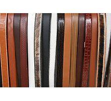 Handmade Leather Belts in Cotacachi Ecuador Photographic Print