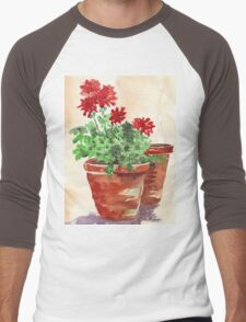 Geranium or Pelargonium? Men's Baseball ¾ T-Shirt