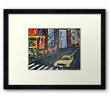 taxi cab Framed Print