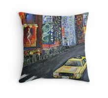 taxi cab Throw Pillow