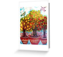 pots of fruit trees Greeting Card