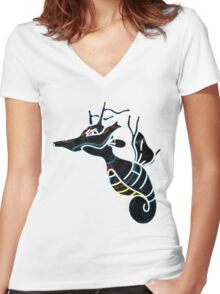 Kingdra Women's Fitted V-Neck T-Shirt