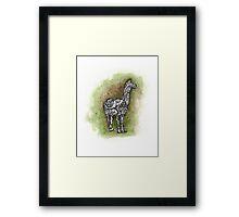 llama on a trip Framed Print
