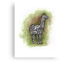 llama on a trip Canvas Print