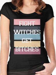 Fight Witches 2 Women's Fitted Scoop T-Shirt