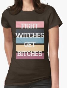 Fight Witches 2 Womens Fitted T-Shirt