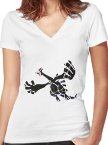 Lugia Women's Fitted V-Neck T-Shirt