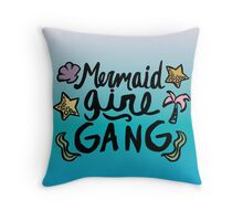 Mermaid girl gang tumblr ariel ocean beach girly print Throw Pillow