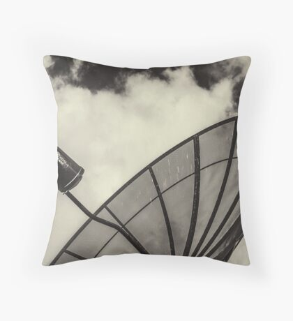 Satellite And Clouds Throw Pillow