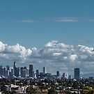 View of Downtown Los Angeles from my home in West Hollywood by Rebecca Dru