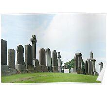 Historic Graveyard, Stirling, Scotland Poster