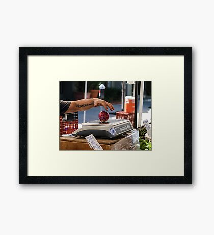 Jaime's Arm And The Red Onion Framed Print