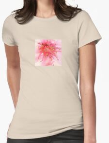 Peach Blossom Macro Womens Fitted T-Shirt