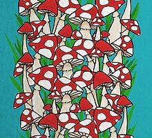 Mushroom Garden by ashleybyproxy