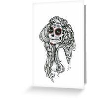 "Black and White Ink Illustration ""Jiibay"" Greeting Card"