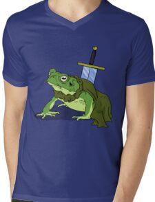 Ribbit in Time Mens V-Neck T-Shirt