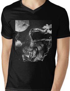 Cat reflection Mens V-Neck T-Shirt