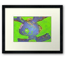 Just a little blue bunny Framed Print