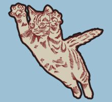 Flying Cat in Cream & Maroon  Kids Clothes