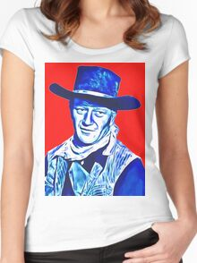 John Wayne in Red River Women's Fitted Scoop T-Shirt