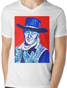 John Wayne in Red River Mens V-Neck T-Shirt