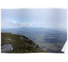 View from Bluff Knoll as the fog lifts looking west Poster
