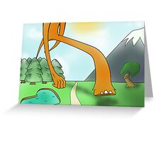 The Walking Giant Greeting Card