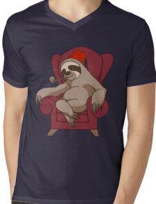 Sophisticated Sloth Mens V-Neck T-Shirt