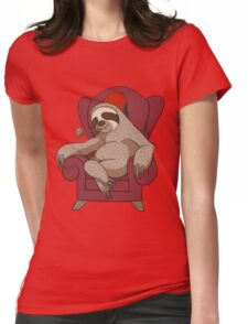 Sophisticated Sloth Womens Fitted T-Shirt