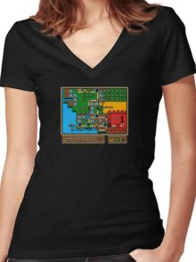 Super Fellowship Bros Women's Fitted V-Neck T-Shirt