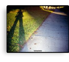 Shadow and Grass (Lomo) Canvas Print