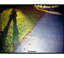 Shadow and Grass (Lomo) Photographic Print