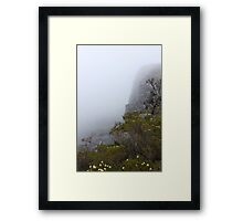 View from Bluff Knoll as the fog starts to lifts   Framed Print