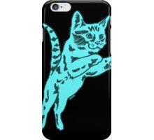 Cotton Candy Cat in Blue iPhone Case/Skin
