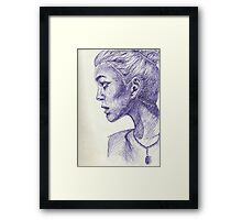 Monday Blues Framed Print