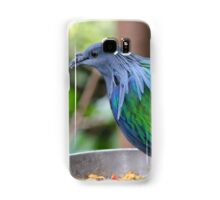 Multi Colored Poofy Bird Samsung Galaxy Case/Skin