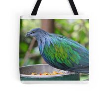 Multi Colored Poofy Bird Tote Bag