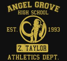 Angel Grove H.S. (Black Ranger Edition) T-Shirt