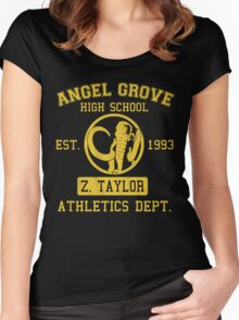 Angel Grove H.S. (Black Ranger Edition) Women's Fitted Scoop T-Shirt