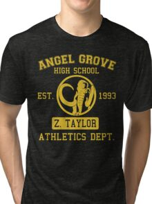 Angel Grove H.S. (Black Ranger Edition) Tri-blend T-Shirt